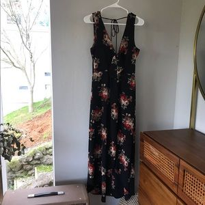 Interi Floral High Low Dress